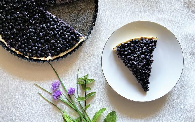Tarte Blueberries & almond cream Healthy