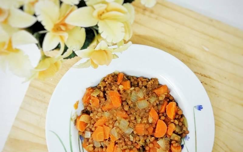 Lentilles Carottes Curry Coco
