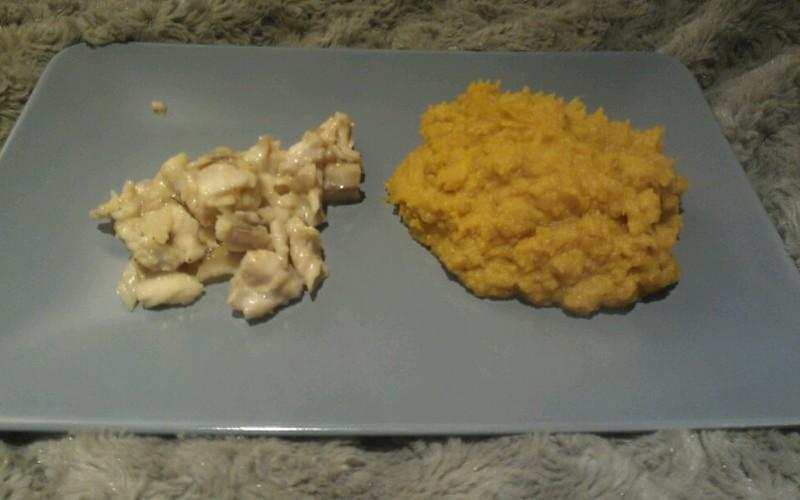 Cabillaud mariné et purée de patate douce