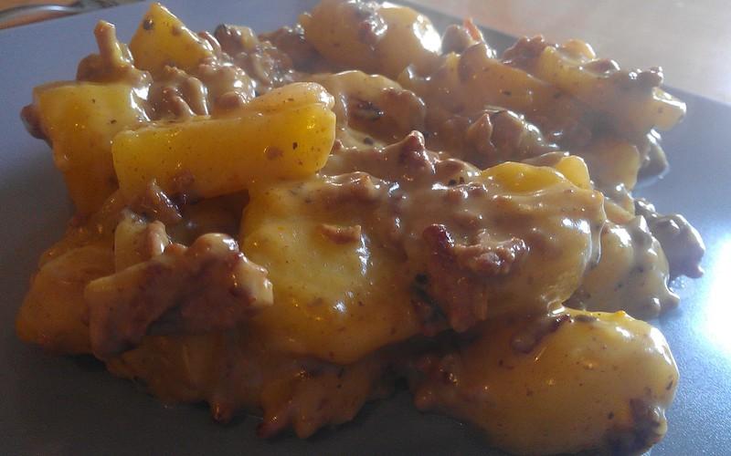Viande hachée et patate au comté