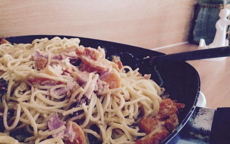 spaghettis sauce chorizo