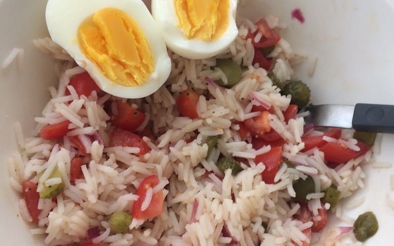 Salade de riz fraîcheur.