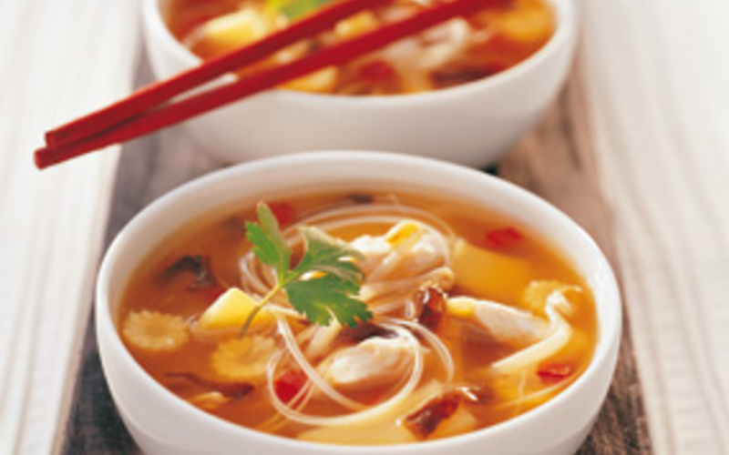 Bouillon de légumes et Nouilles chinoises