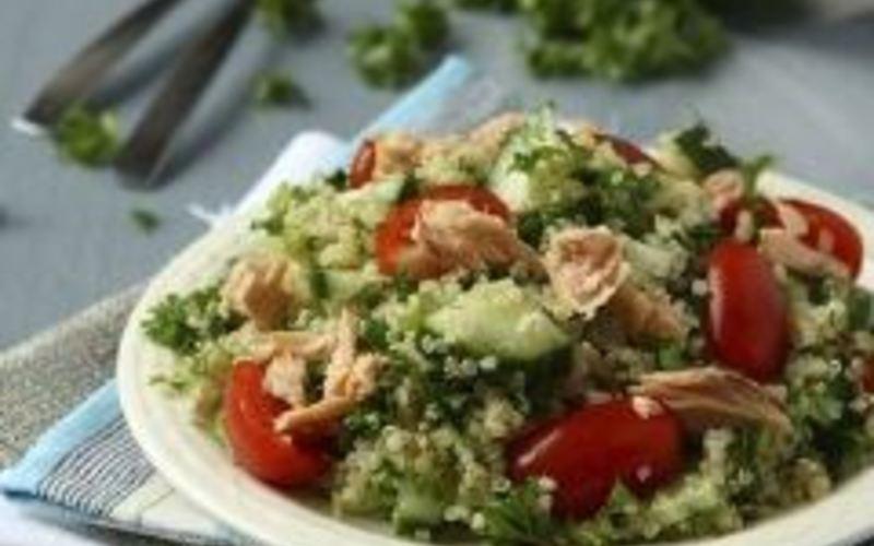 Taboulé de quinoa au saumon