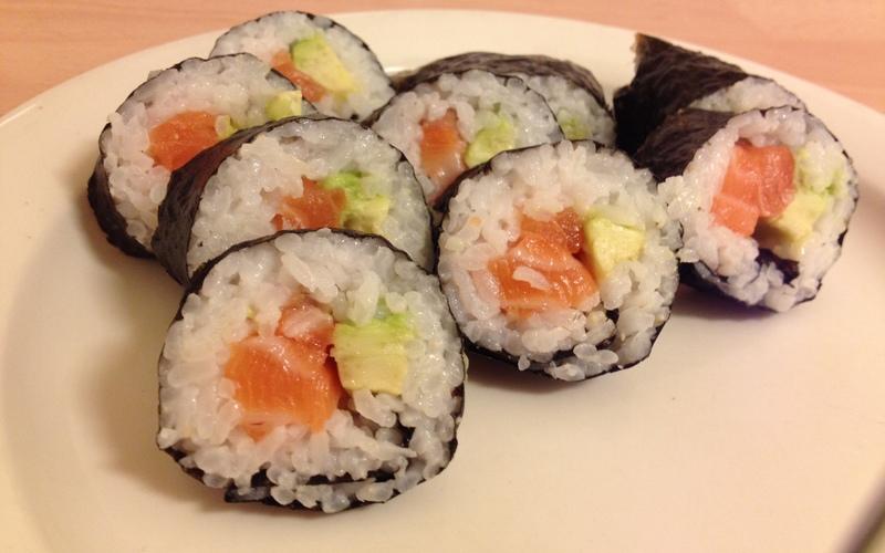 Sushis saumon - avocat