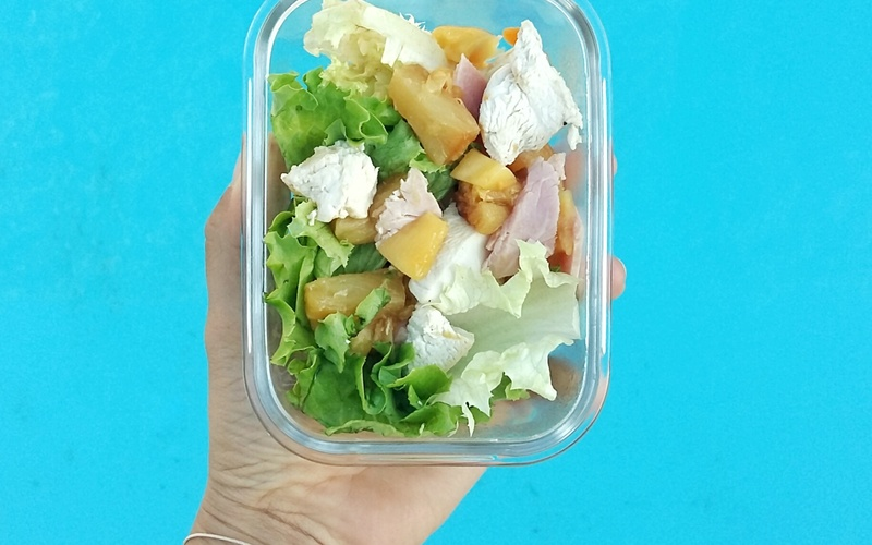 Salade Colombienne, Poulet Ananas