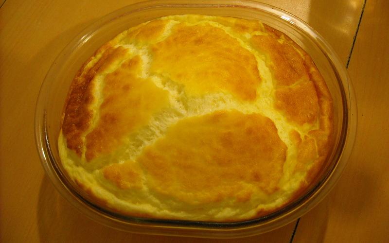 Soufflé jambon fromage