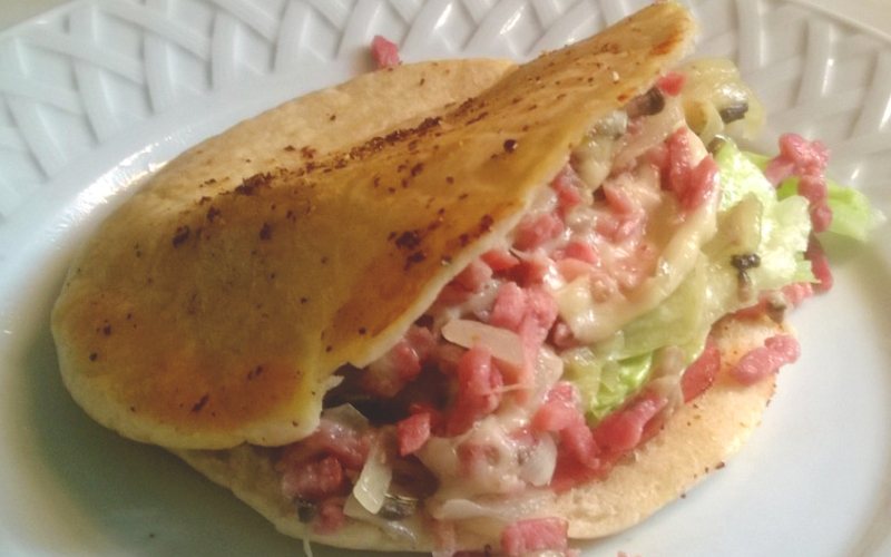 Pita Bacon Mozzarella