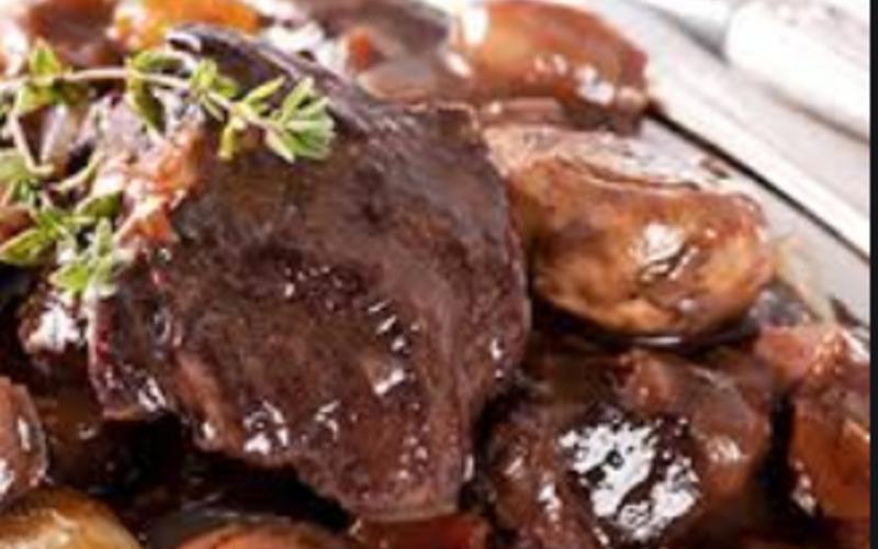 Petits rôtis de foie de veau aux champignons