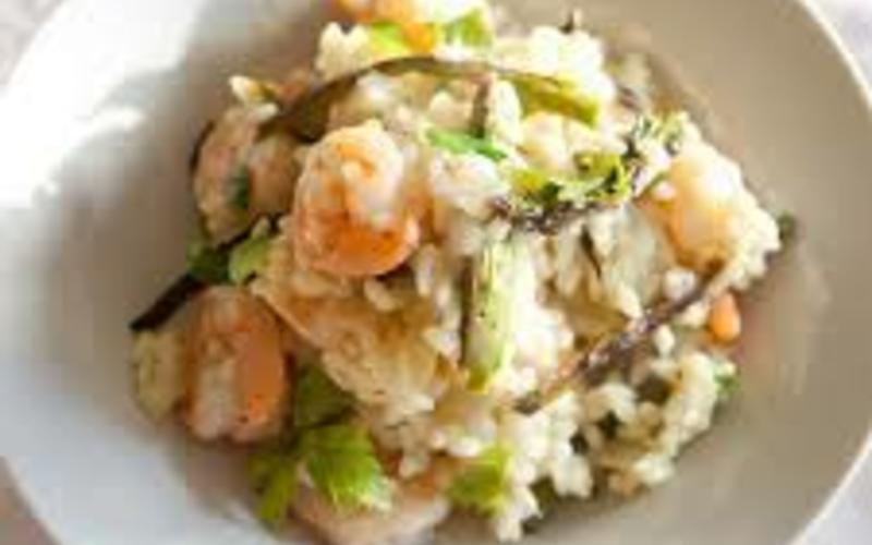 recette risotto crevettes et poireaux conomique et facile cuisine tudiant. Black Bedroom Furniture Sets. Home Design Ideas
