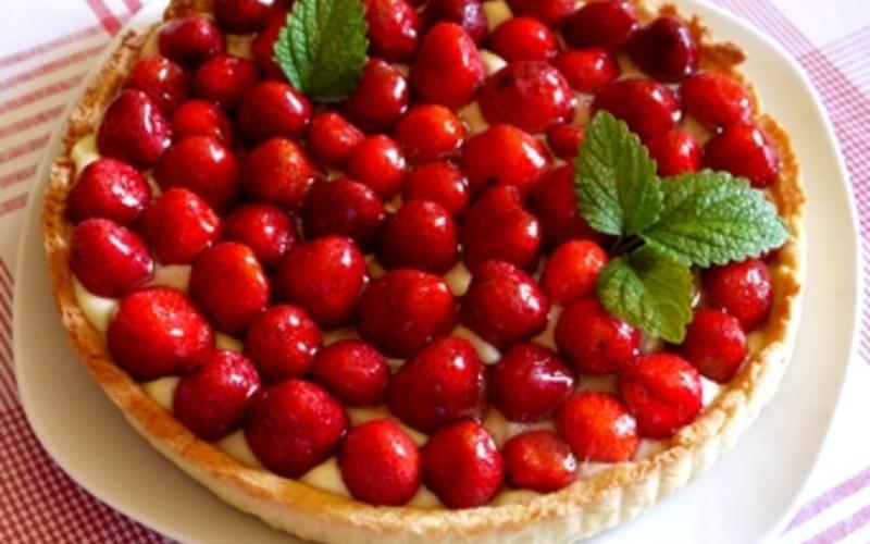 Tarte aux fraises et crème pâtissière