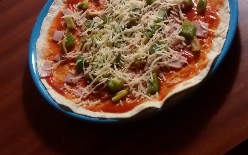 Wrap goût pizza (sans four)