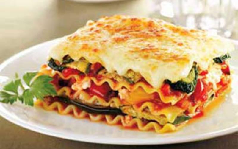 Lasagnes aux légumes Méditerranéens