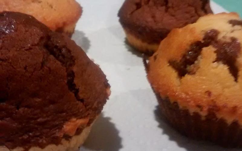 Muffin Marbré chocolat / pépites de chocolat