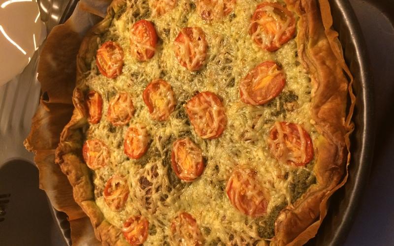 Tarte Pesto, tomates