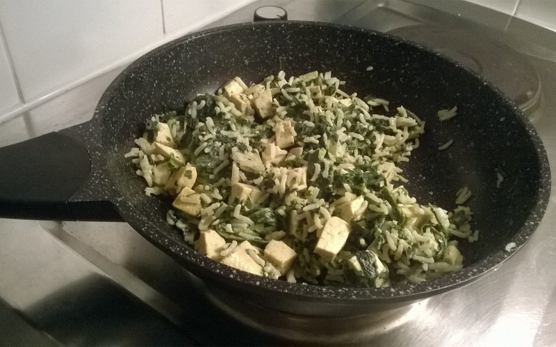 Curry de tofu aux épinards