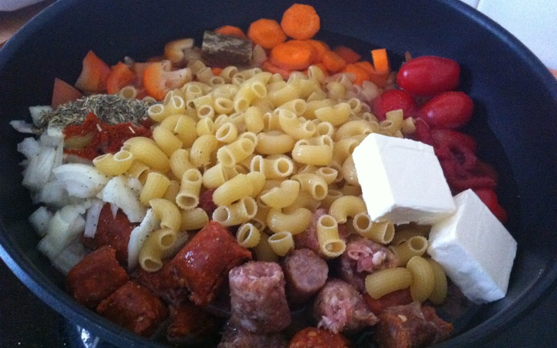 One Pot Pasta aux Merguez et Chipos