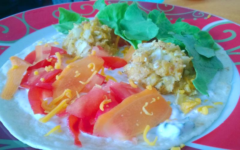 Wraps de falafels non fries ! Un vrai délice !