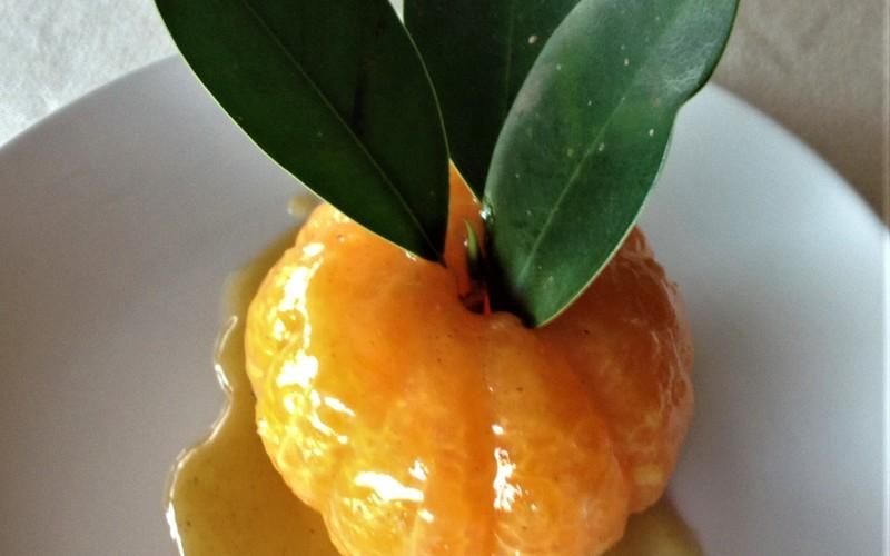Clémentines rôties au caramel d'orange