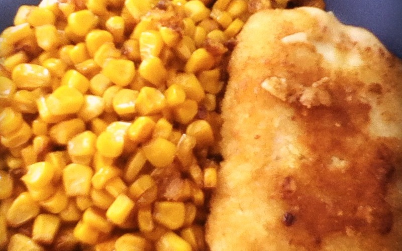 Maïs caramélisé à la poêle