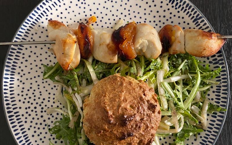 Brochettes de poulet à l'abricot