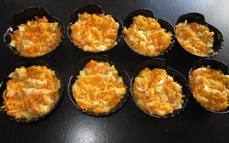 Gratin de crevettes aux carottes