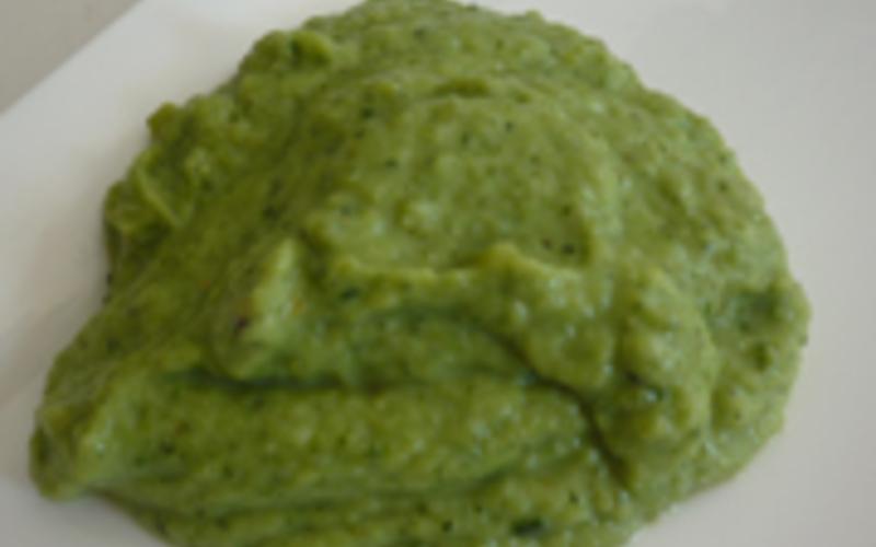purée  brocoli et courgettes