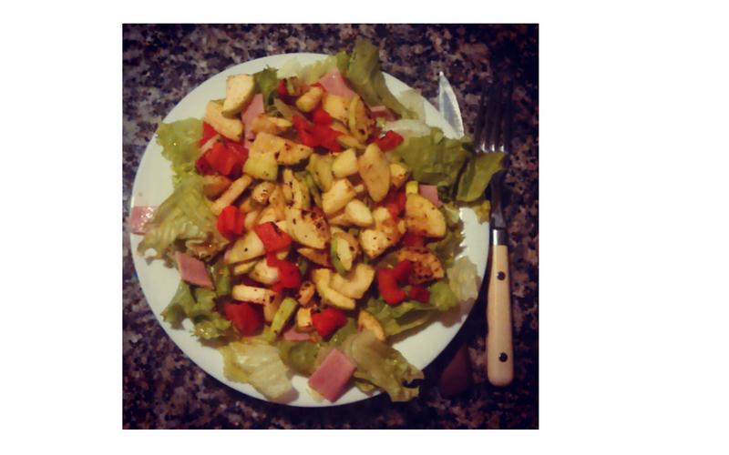 Salade chaude et douce