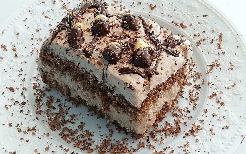 Gâteau gourmand Caramel et Cacahuètes