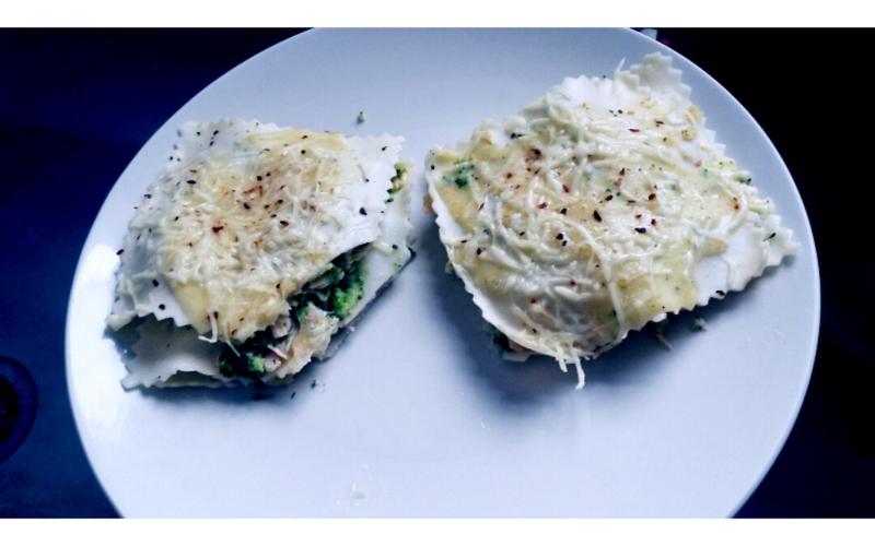 Lasagne brocolis saumon au curry