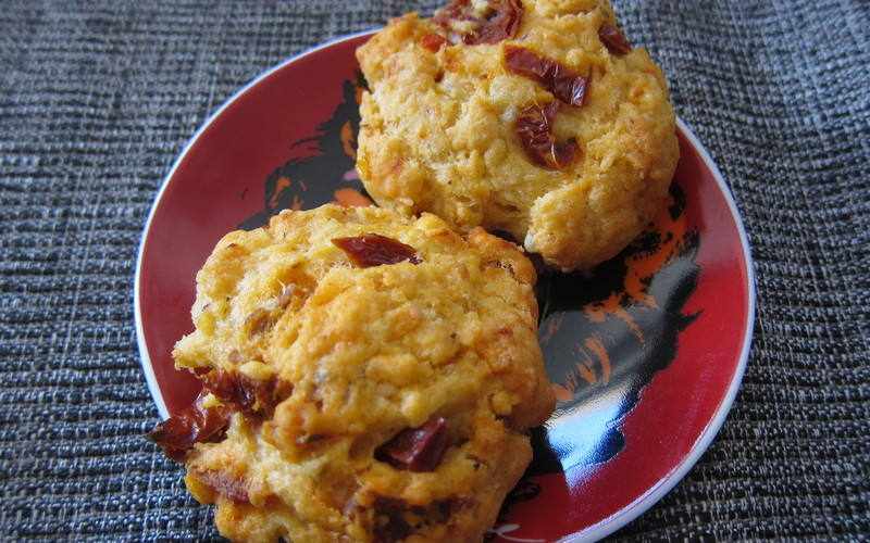 Cookies  tomate séchées et chorizo ( pour l'apéro)