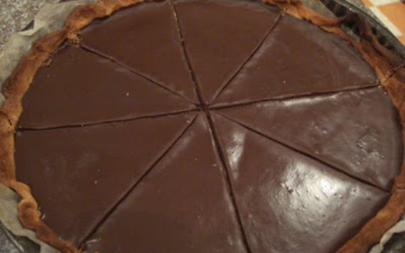 Tarte au chocolat express