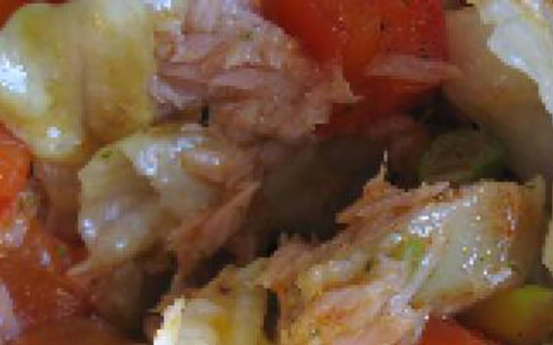 thon à la tomate et aux poivrons