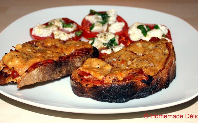 Bruschettas au jambon de Parme & parmesan