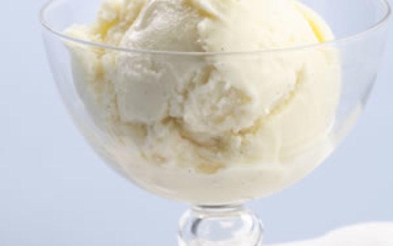 glace chocolat blanc et nougat (sans sorbetière)