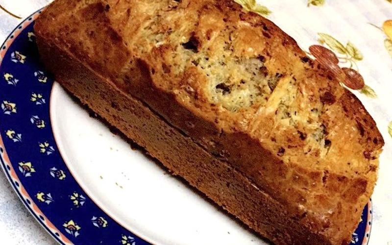 Cake au bleu d'Auvergne, au Cantal et aux noix