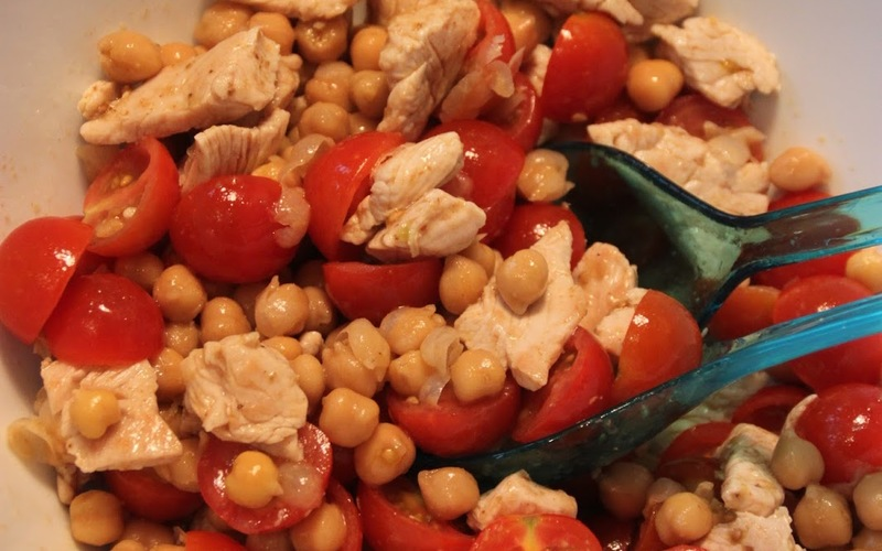 Salade de pois chiche au poulet