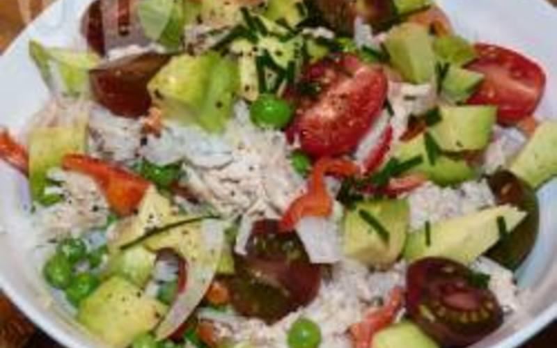 salade de riz  100 % healthy, 100% tasty