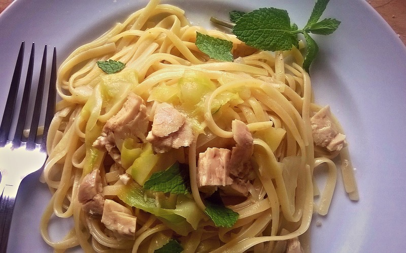 Pâtes thon, courgette & menthe