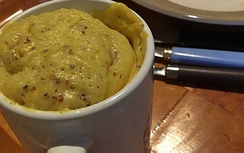 Mugcake salé moutarde/gruyère