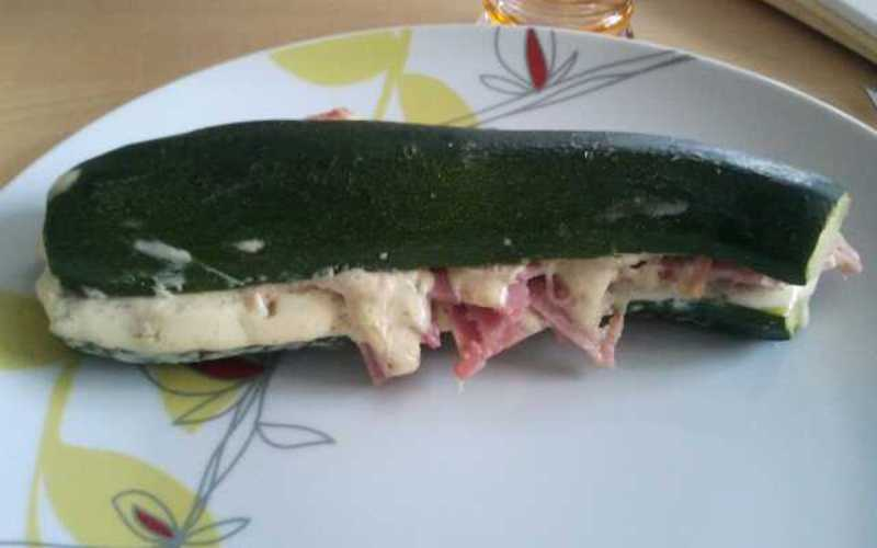 Hot dog de courgette