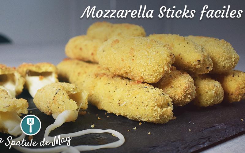Mozzarella Sticks (bâtonnets de fromage panés)
