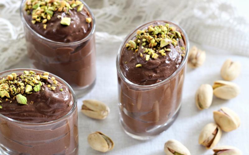 Mousse au chocolat vegan aux pistaches Wonderful