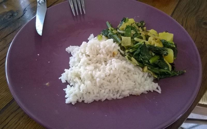 Pak-Choï au curry