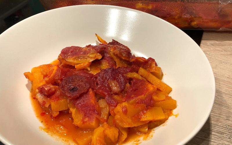 Gratin de potiron-chorizo-mozzarella