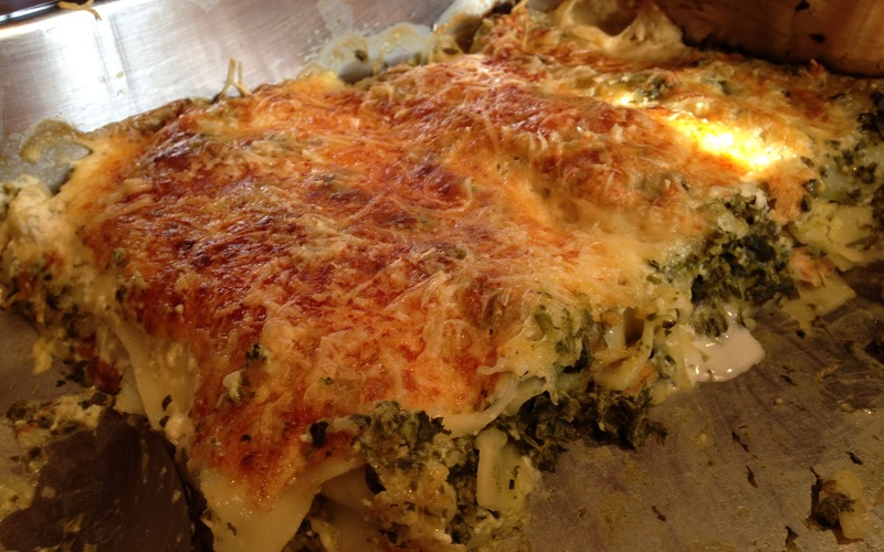 Cannellonis trop bon, aux épinards et saumon