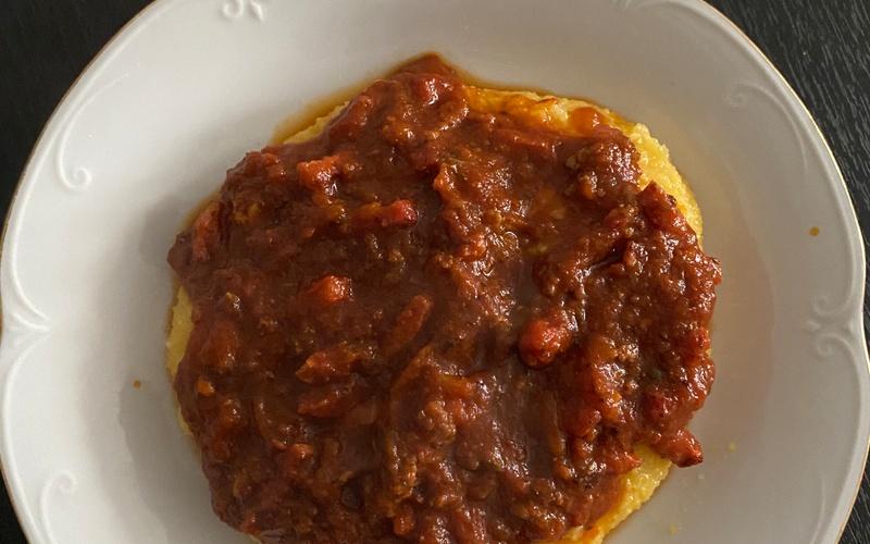 Polenta à la sauce tomate