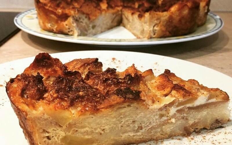Gâteau de pain perdu aux pommes